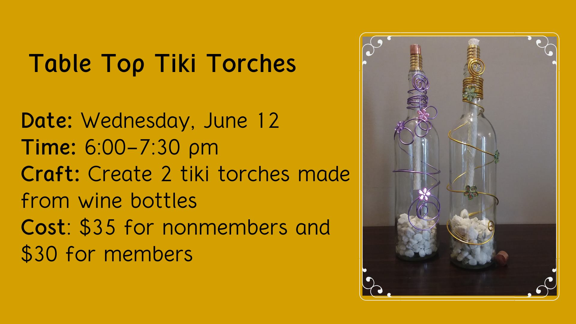 Table Top Tiki Torch Class